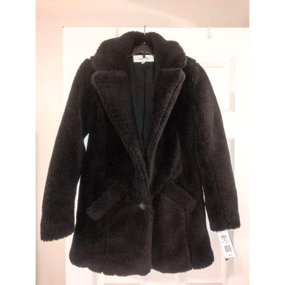 Sebby Jackets & Blazers - Black Teddy Coat